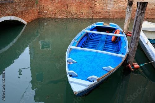 barca di pescatori Canvas Print