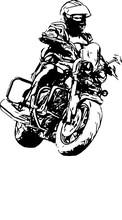 A Biker On A Motorcycle. Motorcycling. Open Moto Fest.