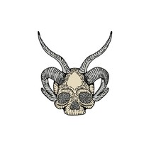 Human Skull With Bighorn Logo ...