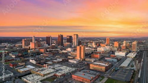Birmingham, Alabama, USA Drone Skyline Aerial Wallpaper Mural