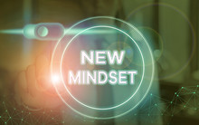 Word Writing Text New Mindset....