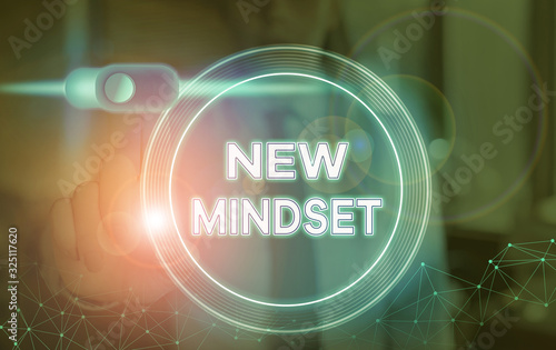 Word writing text New Mindset Canvas Print