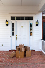 Shipping Boxes On Front Porch ...