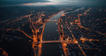 Aerial View Colorful Budapest ...