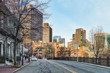 Beacon Hill Neighborhood In Downtown Boston MA