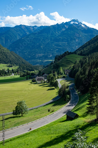 Famous bicycle route Alpe Adria trail made from old railway Canvas Print