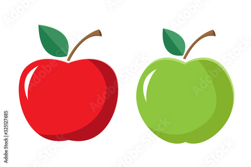 Fototapeta apple icon, vector design, juicy