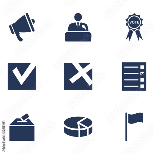 Vector Set of Elections Icons. Wallpaper Mural