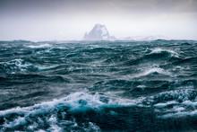 Ruff Storm At South Shetland Islands, Antarctica