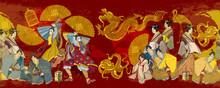 Golden Dagon, Samurai And Geis...