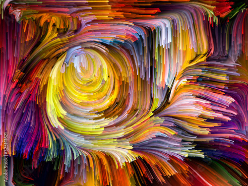 Accidental Fused Colors Canvas Print