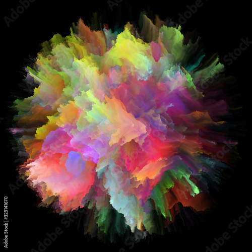 Fototapety, obrazy: Speed of Color Splash Explosion