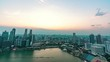 Singapore city, Singapore- 4 August 2019: 4K night time lapse video of amazing beautiful Singapore marina bay with beautiful cityscape of Central business district.