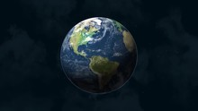 Slow Zoom Of Planet Earth From...