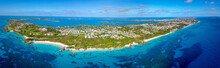 The Drone Aerial View Of Bermuda Island