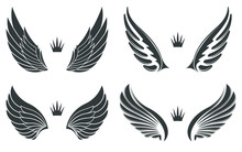 Set Of Four Pairs Of Wings Wit...