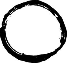 Grunge Circle Round Stamp Frame