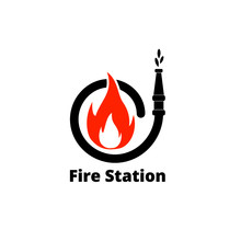 Fire Station Icon On White Background