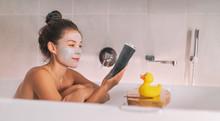 Asian Girl Running A Bath At H...