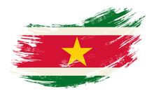 Surinamese Flag Grunge Brush Background. Vector Illustration.