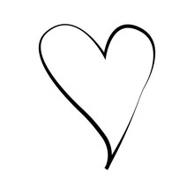 Outline Hand Drawn Heart Icon....
