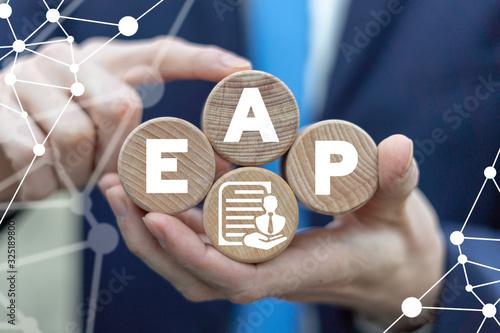 Photo EAP Employee Assistance Program Business Care Concept.