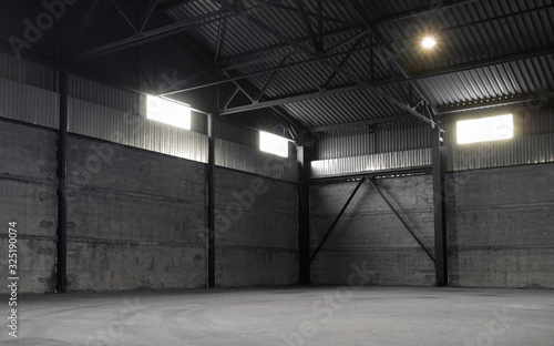 Fototapeta Warehouse for storage of various goods and equipment obraz
