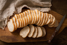 Sliced Bread On Wooden Board, ...