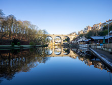 Knaresborough Viaduct Reflection Yorkshire England