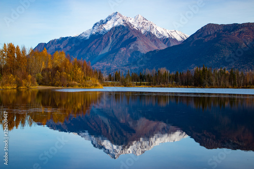 Alaskan lake and mountain Canvas Print