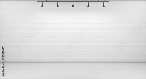 Obraz Background. White Backdrop, 3D rendering - fototapety do salonu