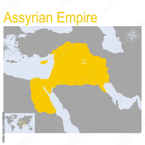 Fotografie, Tablou vector map of Assyrian Empire for your design