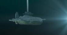 Submarine Launching Torpedos. Model Submarine.