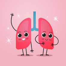 Cute Lungs Characters Funny Hu...