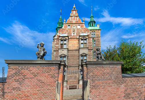 Famous Rosenborg castle, one of the most visited tourist attractions in Copenhag Wallpaper Mural