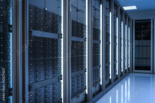 server room or data center Fototapet