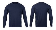 Navy Long Sleeve T-shirt Front...