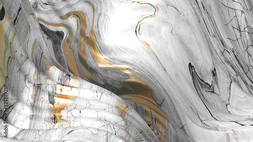 Beautiful background with fluid paint. 3d illustration, 3d rendering.