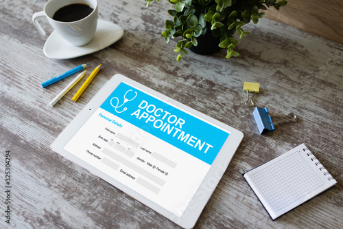 Doctor appointment online on screen Wallpaper Mural