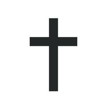 Christian Cross Icon Symbol Se...