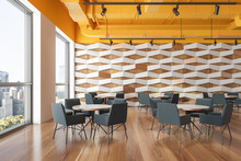 Yellow Ceiling Geometric Patte...