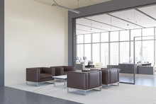 White Office Lounge Area Corner With Armchairs