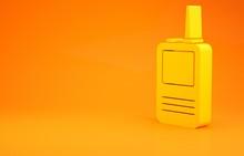 Yellow Walkie Talkie Icon Isol...