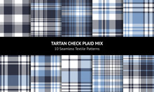 Seamless Plaid Set. Tartan Che...
