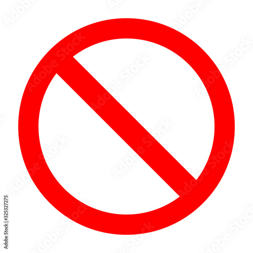 Photo Great concept of ban icon vector in a red circle on a white background