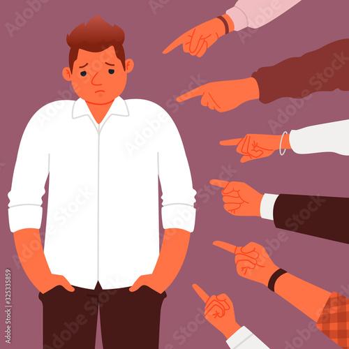 Fotografia, Obraz Concept of social censure or accusations
