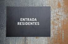 Rótulo Entrada Señalización Texto Entrada Residentes 4M0A1583-as20