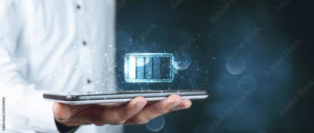 Fototapeta fast wireless charging in the tablet