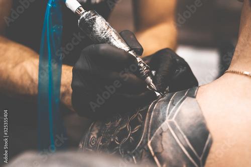 Tattoo salon Canvas Print