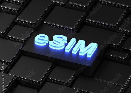Fotografia, Obraz eSIM - embedded-SIM (subscriber identity module)